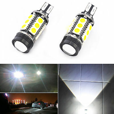 2 x 7.5W White Error Free T15 W16W LED Projector Reverse Light Bulbs Canbus