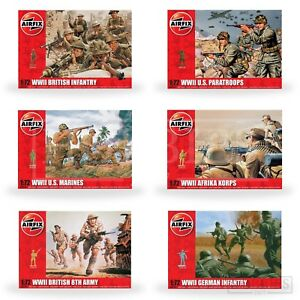 Airfix-WW2-Figure-1-72-MODEL-KIT-48-soldati-dell-039-esercito-britannico-ci-Tedesco-Fanteria