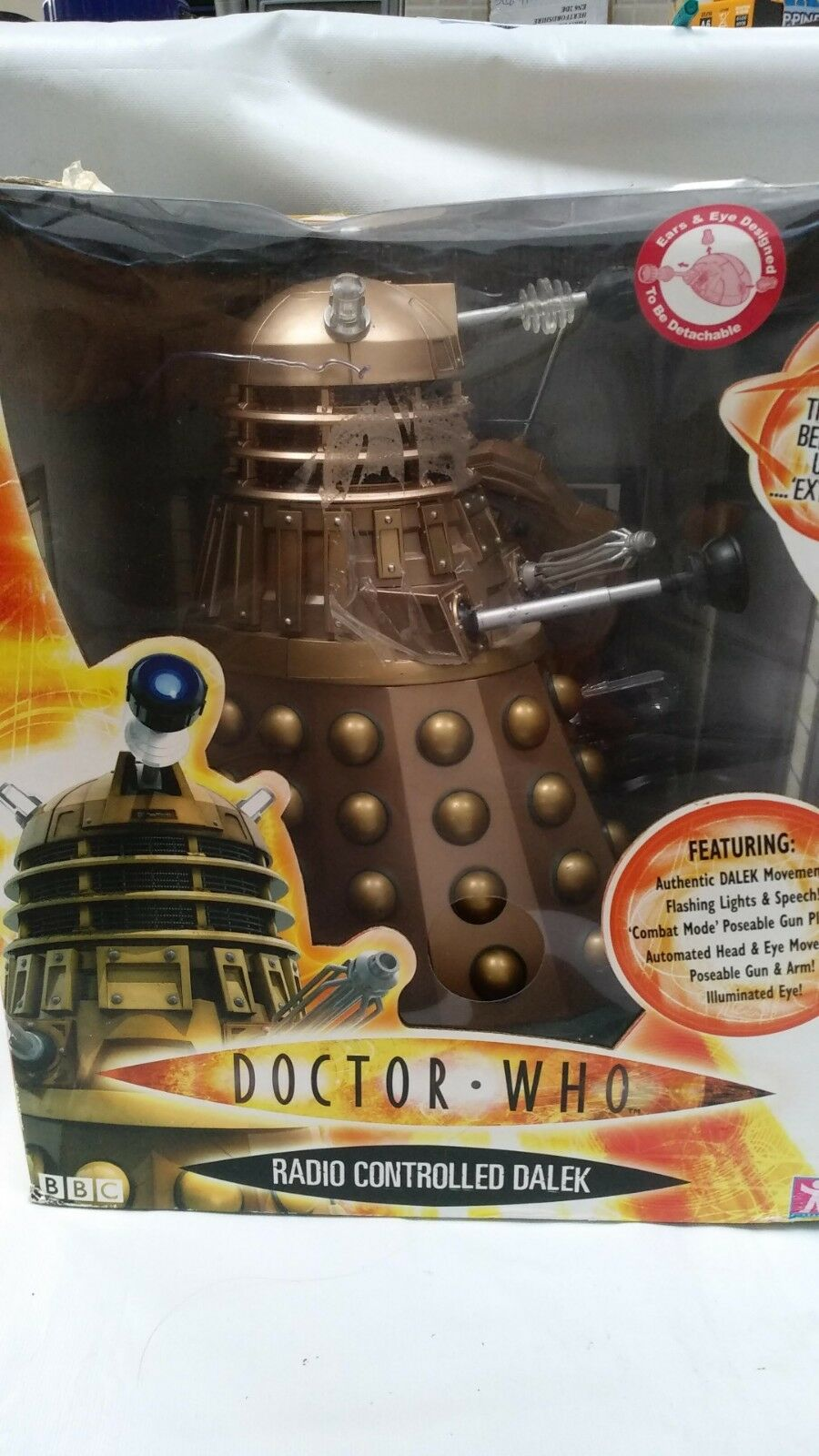 Dr Doctor Large 12'' Radio Remote Controlled RC RC RC Bronze Imperial Guard Dalek Toy 3552c2