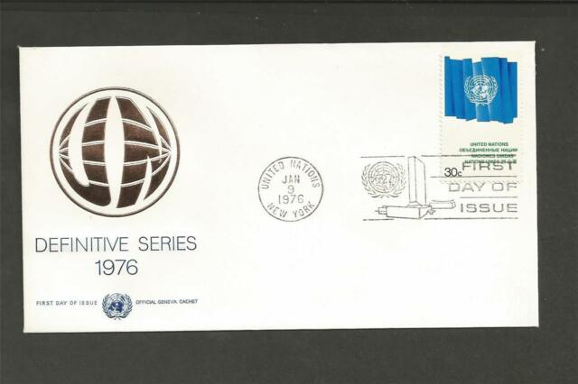 UNITED NATIONS -1976 - 30c DEFINITIVE -  F.D.COVER.