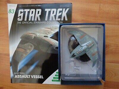 STAR TREK EAGLEMOSS OFFICIAL STARSHIPS COLLECTION #83 BAJORAN ASSAULT VESSEL