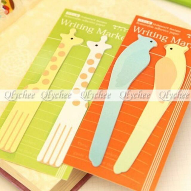 1 Pc Random Animals Sticker Bookmark Pads Marker Memo Flags Sticky Notes