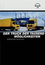 MAN M 2000 Evolution Lkw Prospekt 5/02 Broschüre 2002 Nutzfahrzeuge Autoprospekt