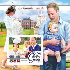 Guinea 2016 MNH British Royal Family 1v S/S Prince William & Kate George Stamps