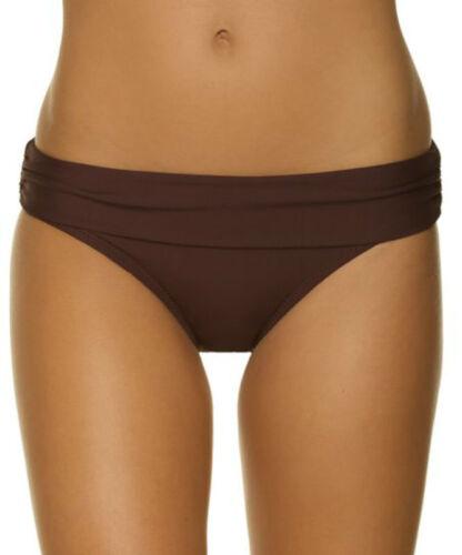 Slip Bikini Vita Alta Saress Marrone Taglia XL 16 Turn Over 3 modi per indossare in basso