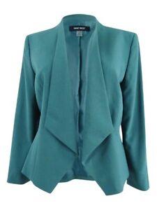 Nine-West-Women-039-s-Plus-Size-Kiss-Front-Blazer