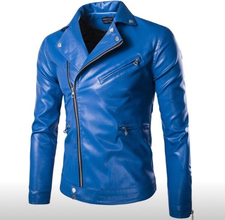 New style genuine leder männer's jackes motor-biker coat