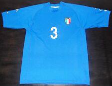 Italy WC 2002 Paolo Maldini Home Shirt AC Milan Jersey Italia Maglia Trikot