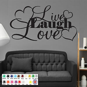 Live Laugh Love Wall Sticker Vinyl Wall Art Modern Home Decoration Decal Ebay