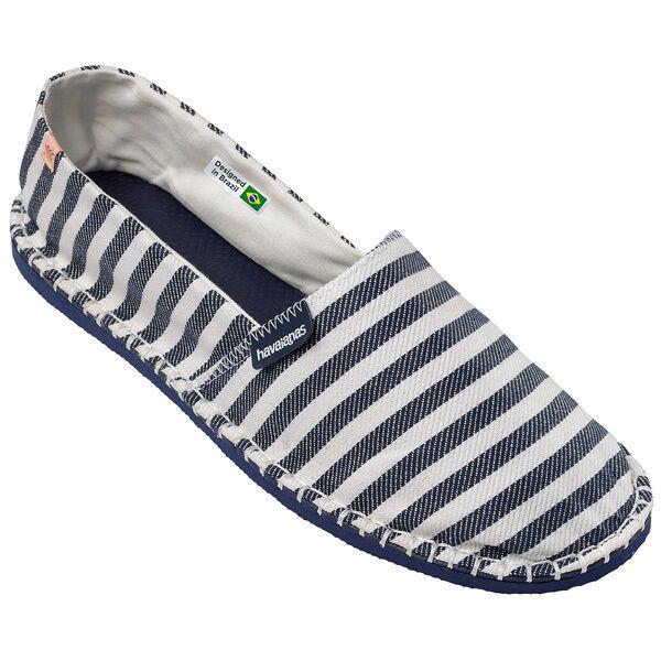 Havaianas Origine listras espadrillas sandali mocassini scarpe blu marino