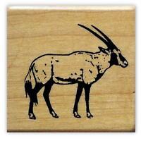 Gemsbok Mounted African Antelope Rubber Stamp 17