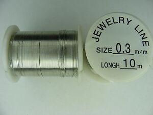 1-BOBINE-FIL-DE-CUIVRE-COULEUR-ARGENT-10m-diam-0-3mm