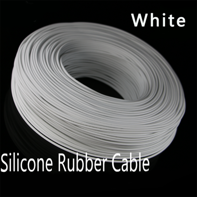 Black Flexible Stranded Silicone Cable UL 14~30AWG Electronic Lead Wire 200℃//3KV