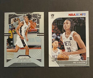 2019-20-Nic-Claxton-Prizm-Rookie-and-NBA-Hoops-Rookie-Card-Brooklyn-Nets