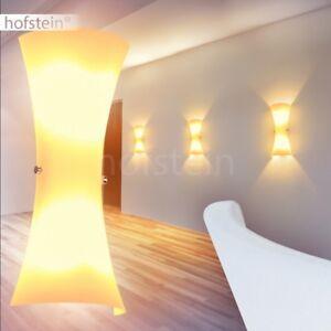 Dettagli su Lampada Parete Vetro Bianco Luce Salotto Soggiorno Studio  Moderno Applique Muro