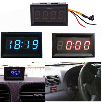 4.5-30V Mini Digital LED Electronic Auto Clock for Car Motorcycle Motor Scooter
