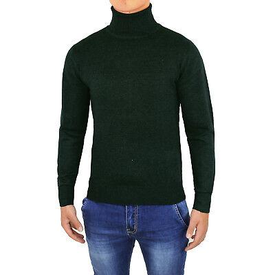 Suéter de hombre Casual suéter Cuello Alto Slim Fit Cárdigan De invierno Pulóver