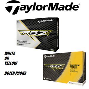 2019-TaylorMade-RBZ-SOFT-Golf-Balls-Yellow-or-White-dozen-pack