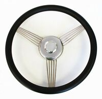 14 Black Banjo Steering Wheel To Fit Ididit Steering Column Ford Center Cap