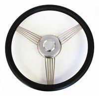 14 Black Banjo Steering Wheel To Fit Ididit Steering Column Ford Center Cap