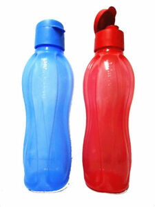 NEW-Tupperware-Large-H20-Aquasafe-Eco-Easy-Bottles-Red-or-Blue-1-Liter-33oz