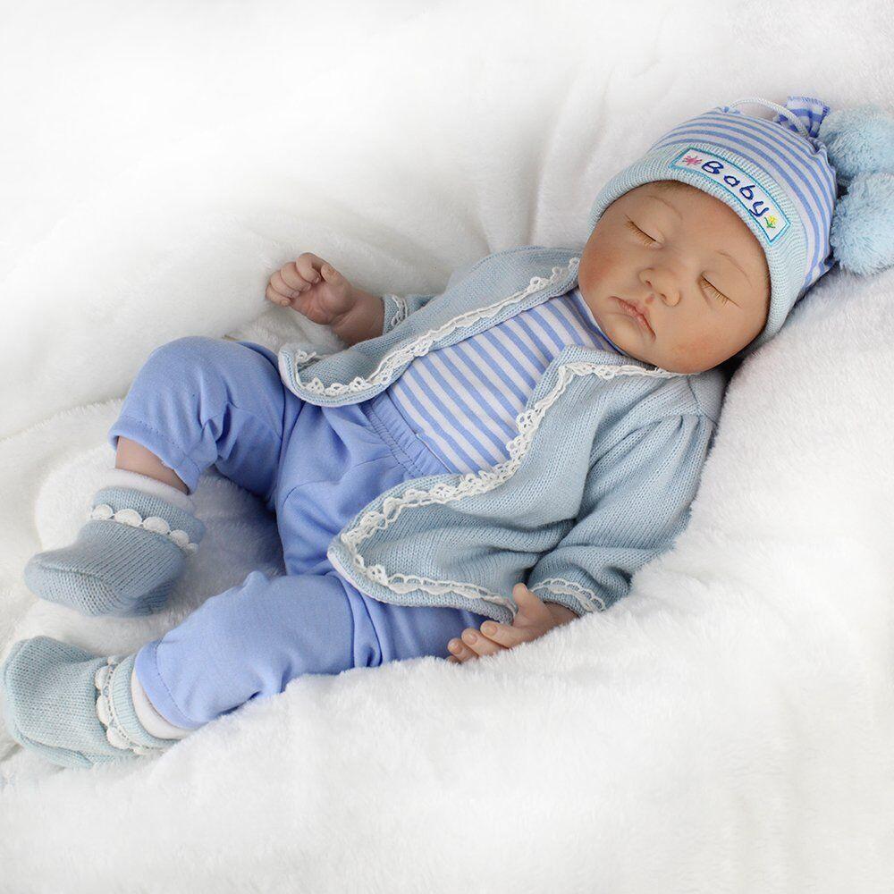 Reborn realistica Bambola in silicone VINILE neonato bambole sorpreso Bambino Regalo di Natale