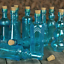 Vintage-Glass-Bottles-with-Corks-Bud-Vases-Assorted-Shapes-5-Inch-Tall-Set thumbnail 1