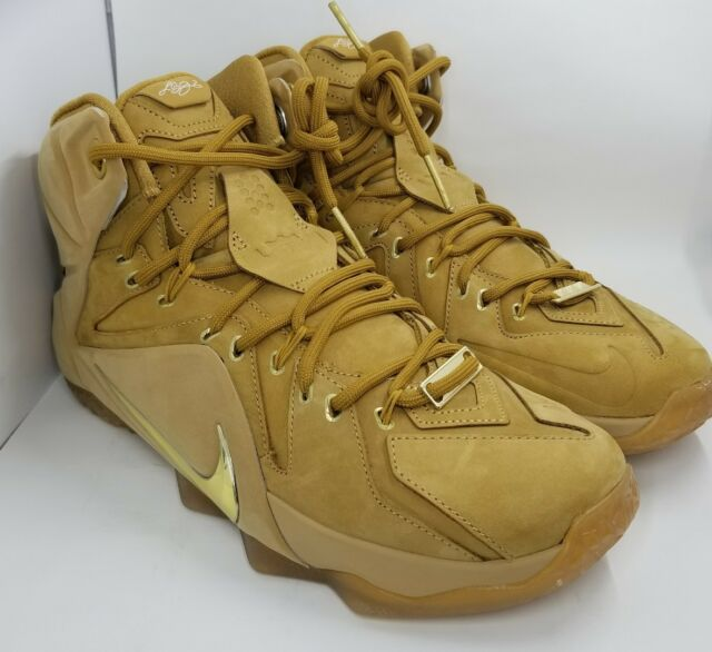 999e607c32b2 Nike Lebron XII 12 EXT QS Wheat Size 9.5 744287 700 for sale online ...