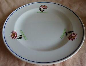P. REGOUT SPHINX ontbijtbord bloemen 21cm bord 1941 plate Assiette Teller plato