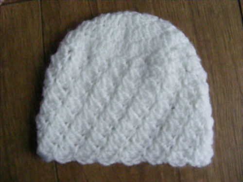 Free Postage! White or Blue 2 for £4.50 £2.50 each Pink Newborn Baby Hat