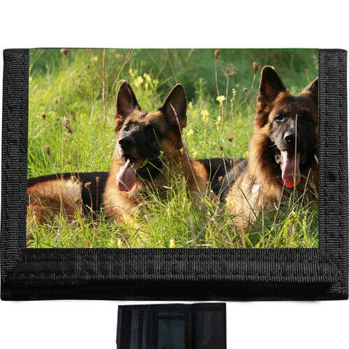 German Shepherd Dogs BLACK TRIFOLD NYLON WALLET Great Gift Idea