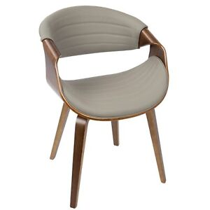 OPEN-BOX-Symphony-Mid-Century-Modern-Dining-Accent-Chair-in-Walnut-Wood-and-G
