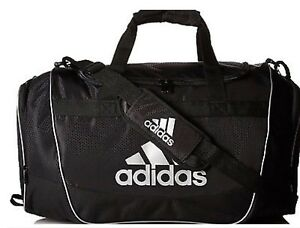 New Adidas Defender II Duffel Bag Sport Small Travel Run Gym Bag ... 2a6233b500153