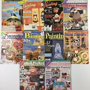 Lot-of-10-decorative-painting-magazines-w-patterns-tole-Christmas-Halloween-More