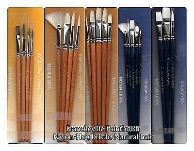SUPVOX 3Pcs Stencil Painting Brush DIY Art Crafts Paint Brush