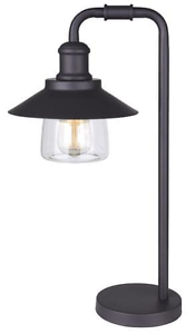 Oil Rubbed Bronze With Clear Glass Shade Table Lamp Ebay
