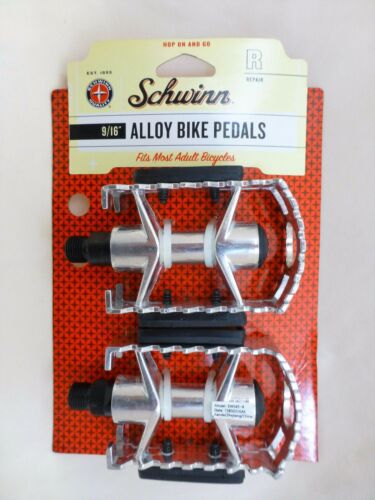 New Pair Schwinn Universal Alloy Bicycle Bike Pedals Set 9//16-Inch Steel Spindle