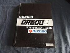 Suzuki DR500S DR 600 S / R 1985-89  Bandit Reparaturanleitung Werkstatthandbuch