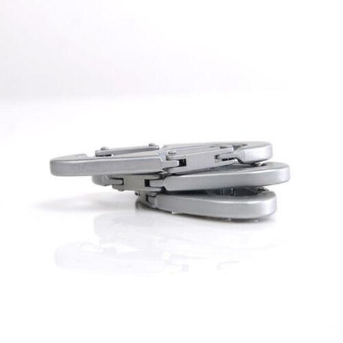 1x HOT 8-Shaped Aluminum Carabiner Clip Hook Keychain Hiking Climbing Hanger