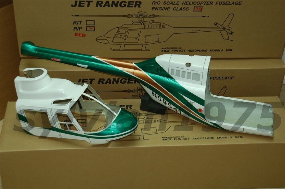FUNKEY JET Ranger Fuselage for .30 Dimensione ( VER.2 ) verde