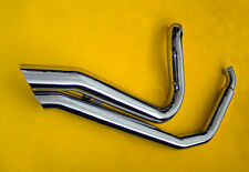 EXHAUST PIPES STRAIGHT DRAG Short Shooters BIG GROWL FITS HARLEY SOFTAIL