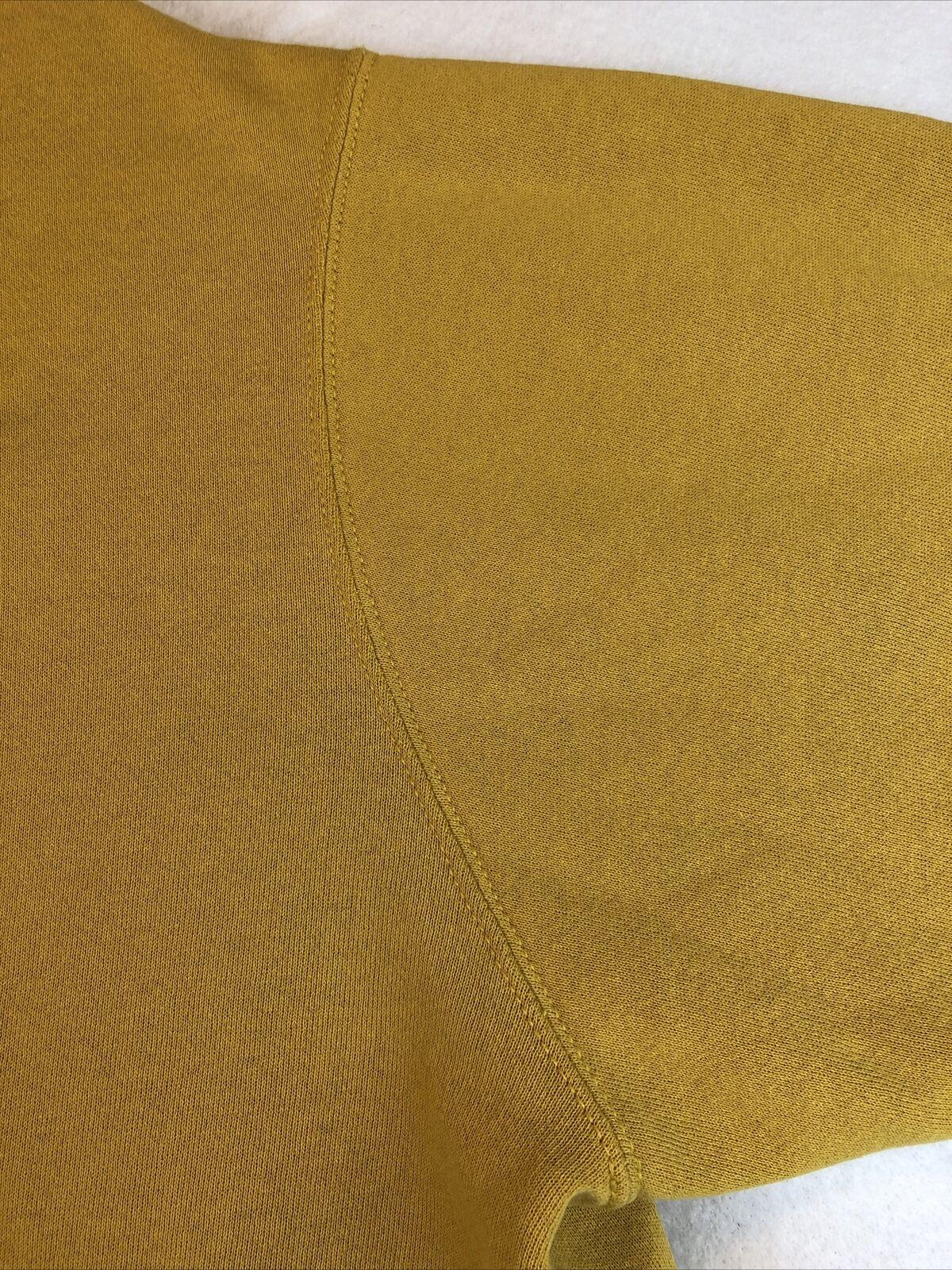 VTG Nike Rare Mustard Yellow Hoodie Sweatshirt Si… - image 11