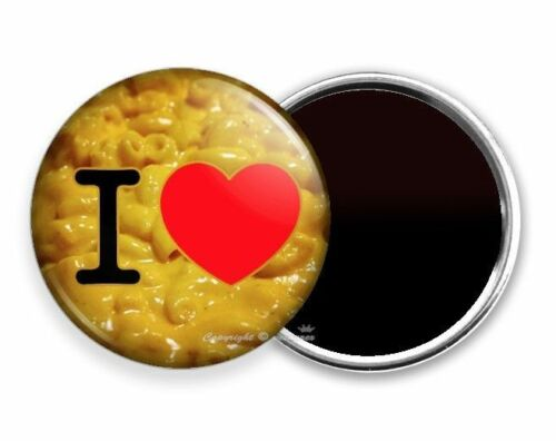 FUNNY QUOTE I LOVE MACARONI MAC AND CHEESE HEART NEW REFRIGERATOR FRIDGE MAGNET