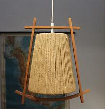 TEAK HÄNGELAMPE DANISH MODERN DESIGN 1960S TEAKHOLZ CEILING LAMP TEMDE