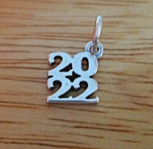 Sterling Silver 10x11mm empilés COLLEGE High School graduation 2022 charme