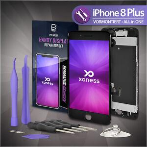 Ersatz-LCD-iPhone-8-PLUS-Display-Schwarz-KOMPLETT-VORMONTIERT-Retina-Bildschirm