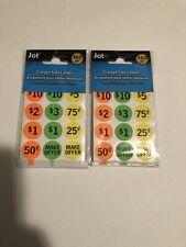 720 Neon Yard Garage Rummage Sale Price Tag Sticker Labels Prepriced Amp Blank