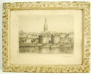 Leopold-ROBIN-1877-1939-la-grande-porte-de-Saint-Malo-Bretagne-gravure