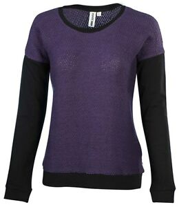 Vans CLOCKWORK CREW Sweater Womens M MD PURPLE Black Knitted ... 0e8506a44