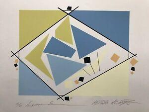 "Modern ABSTRACT Serigraph Print Atsuko Okamoto Contemporary Bauhaus 31"" x 21"""